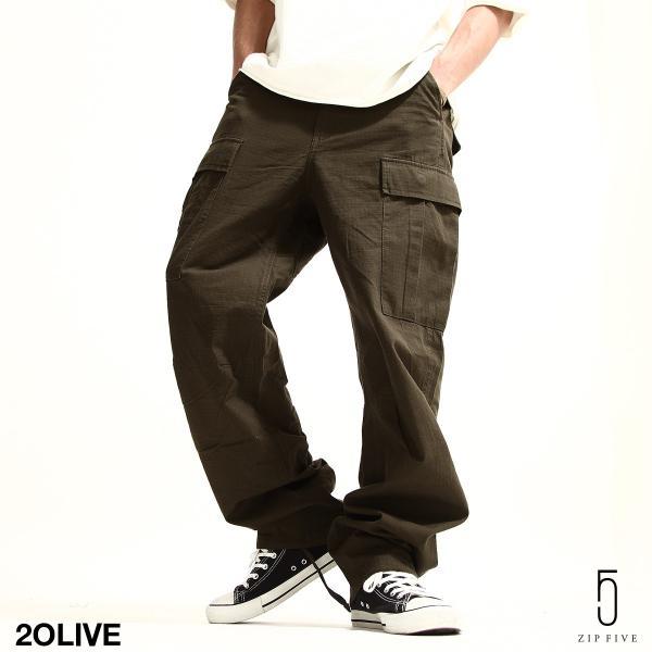 カーゴパンツ メンズ パンツ ワークパンツ ワイド ゆったり 綿リップ 無地 おしゃれ ファッション ポイント消化 (131930br)|zip