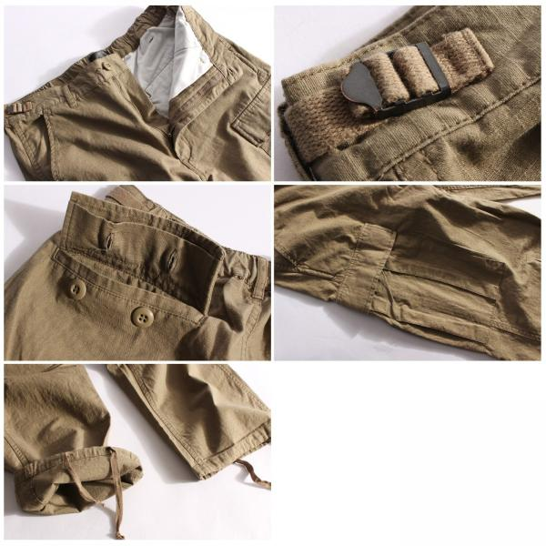 カーゴパンツ メンズ パンツ ワークパンツ ワイド ゆったり 綿リップ 無地 おしゃれ ファッション ポイント消化 (131930br)|zip|03