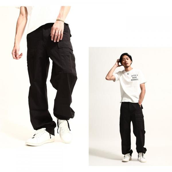 カーゴパンツ メンズ パンツ ワークパンツ ワイド ゆったり 綿リップ 無地 おしゃれ ファッション ポイント消化 (131930br)|zip|04