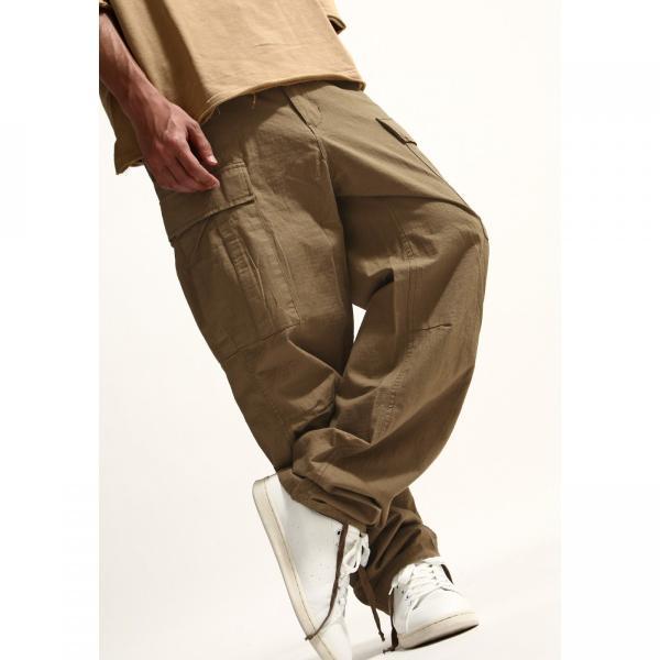 カーゴパンツ メンズ パンツ ワークパンツ ワイド ゆったり 綿リップ 無地 おしゃれ ファッション ポイント消化 (131930br)|zip|05