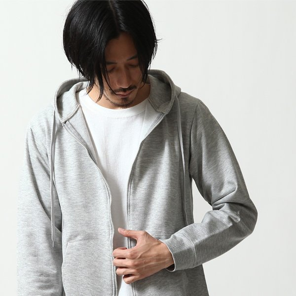 ジップアップパーカー メンズ パーカー ジップアップ 裏起毛 無地 スウェット ファッション ポイント消化 ポイント消化 (14095)|zip|07
