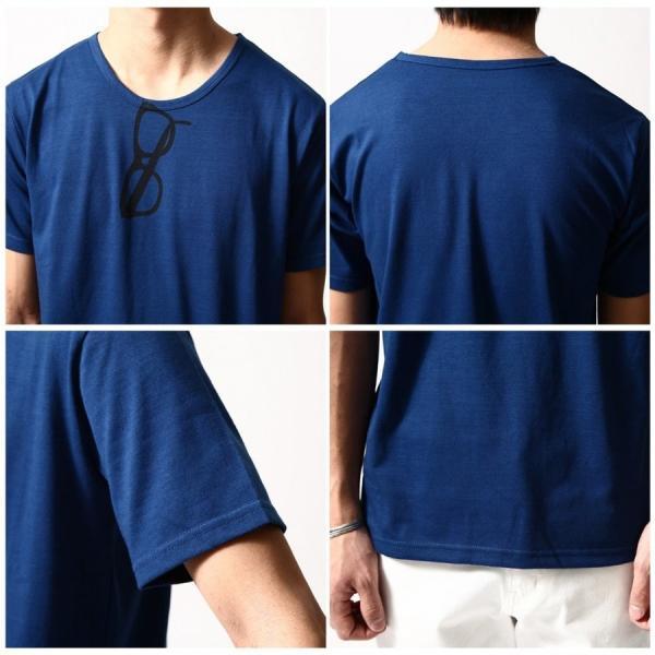 # Tシャツ メンズ クルーネック カットソー 半袖 プリント サーフ ネイティブ インディアン メガネ 細ロゴ  S M L XL おしゃれ ファッション (17002-11nz)|zip|04
