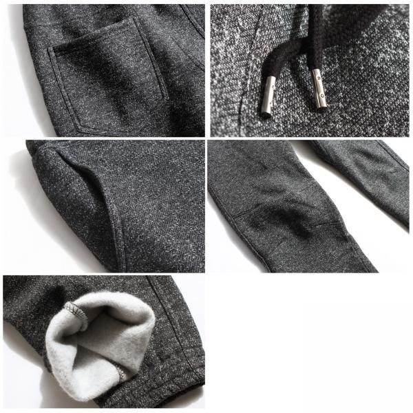 ジョガーパンツ メンズ イージーパンツ パンツ スウェットパンツ 裏起毛 スウェット 無地 黒 グレー ブラック ポイント消化 (16089) zip 03