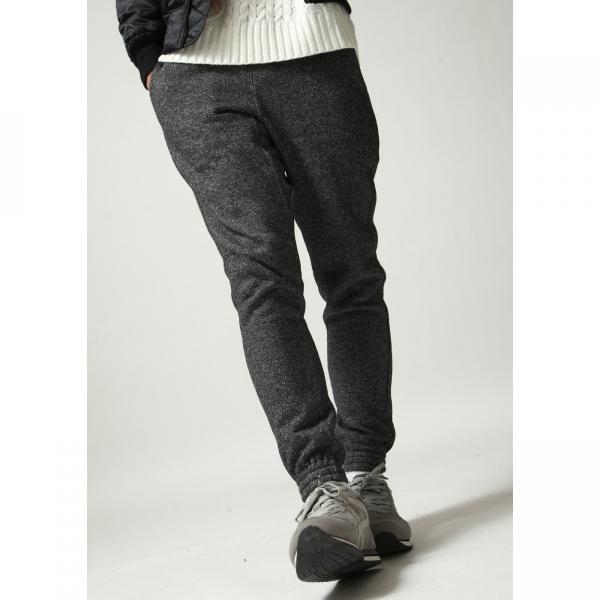 ジョガーパンツ メンズ イージーパンツ パンツ スウェットパンツ 裏起毛 スウェット 無地 黒 グレー ブラック ポイント消化 (16089) zip 04