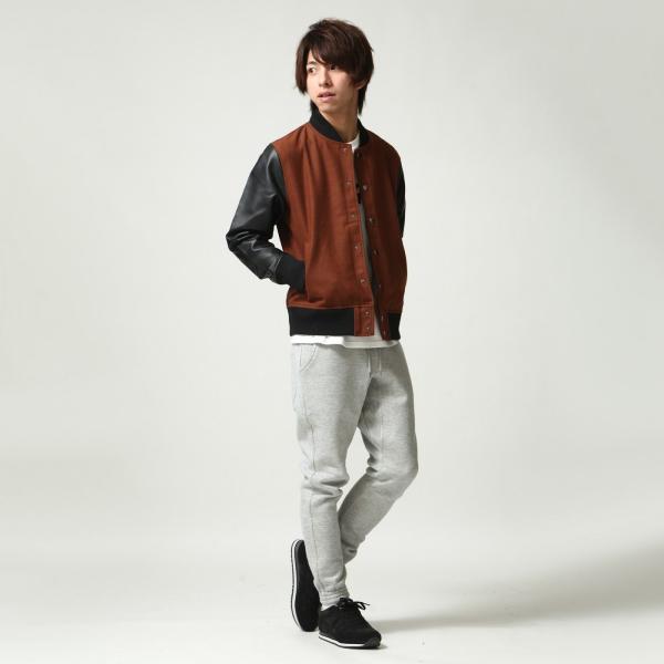 ジョガーパンツ メンズ イージーパンツ パンツ スウェットパンツ 裏起毛 スウェット 無地 黒 グレー ブラック ポイント消化 (16089) zip 06