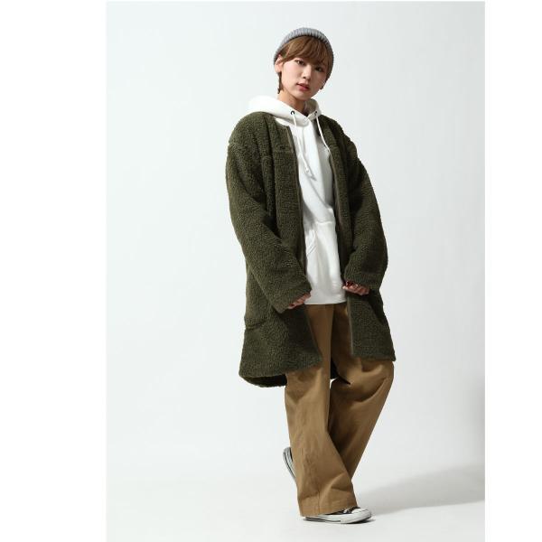 コート メンズ ボア ボアコート ロングコート ロング丈 無地 ノーカラー ブルゾン ファッション (161948br)|zip|11
