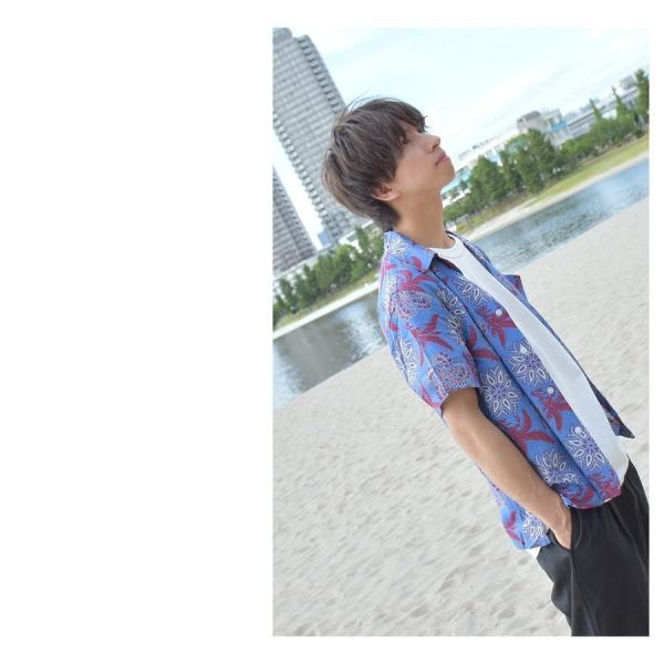 シャツ メンズ カジュアルシャツ オープンカラーシャツ 開襟シャツ アロハシャツ 半袖 レーヨン 総柄 ファッション 夏 涼しい ポイント消化 (171913bz)|zip|15
