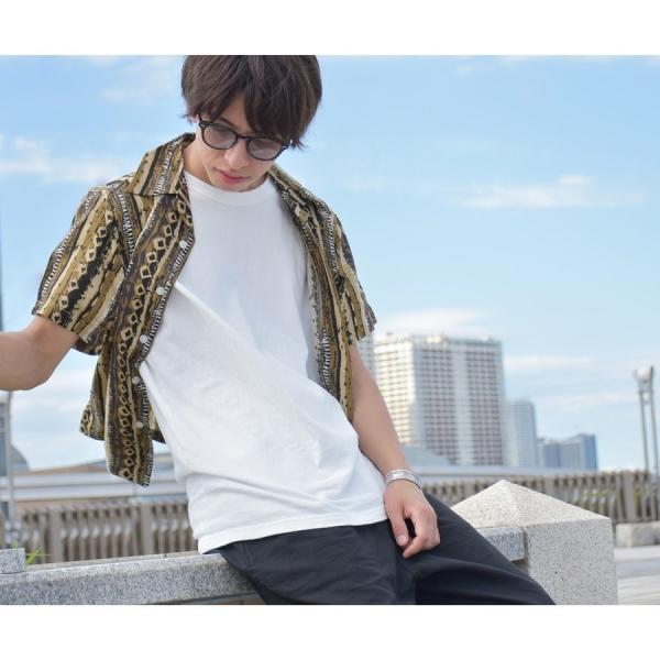 シャツ メンズ カジュアルシャツ オープンカラーシャツ 開襟シャツ アロハシャツ 半袖 レーヨン 総柄 ファッション 夏 涼しい ポイント消化 (171913bz)|zip|16