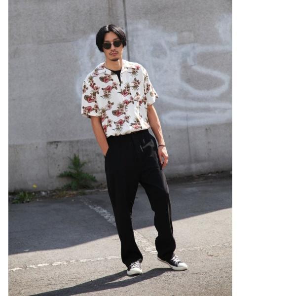 シャツ メンズ カジュアルシャツ オープンカラーシャツ 開襟シャツ アロハシャツ 半袖 レーヨン 総柄 ファッション 夏 涼しい ポイント消化 (171913bz)|zip|21