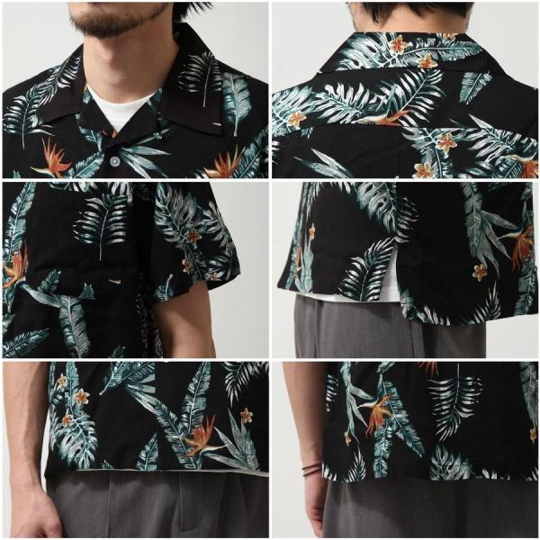 シャツ メンズ カジュアルシャツ オープンカラーシャツ 開襟シャツ アロハシャツ 半袖 レーヨン 総柄 ファッション 夏 涼しい ポイント消化 (171913bz)|zip|05