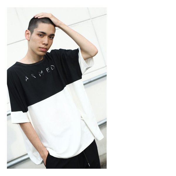 Tシャツ メンズ カットソー 長袖 切替 ロゴ刺繍 ロゴ ビッグシルエット オーバーサイズ 鹿の子 ワンポイント ファッション ポイント消化 (171928bz)|zip|06