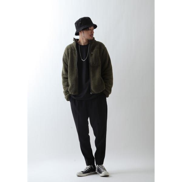 ブルゾン メンズ ボア フリース ジャケット アウター ボアジャケット スタンドネック ふわふわ もこもこ ジャンパー ファッション (181909bz) D 2bh|zip|11