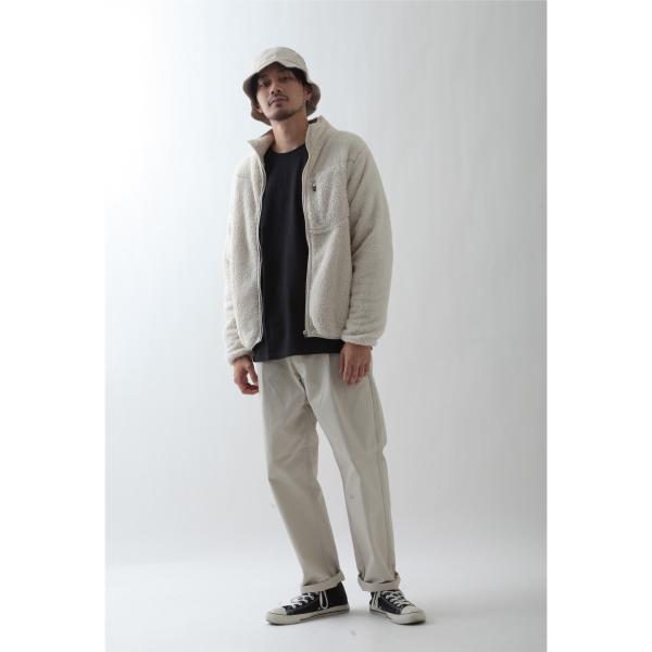 ブルゾン メンズ ボア フリース ジャケット アウター ボアジャケット スタンドネック ふわふわ もこもこ ジャンパー ファッション (181909bz) D 2bh|zip|07