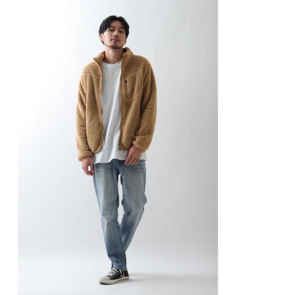 ブルゾン メンズ ボア フリース ジャケット アウター ボアジャケット スタンドネック ふわふわ もこもこ ジャンパー ファッション (181909bz) D 2bh|zip|09