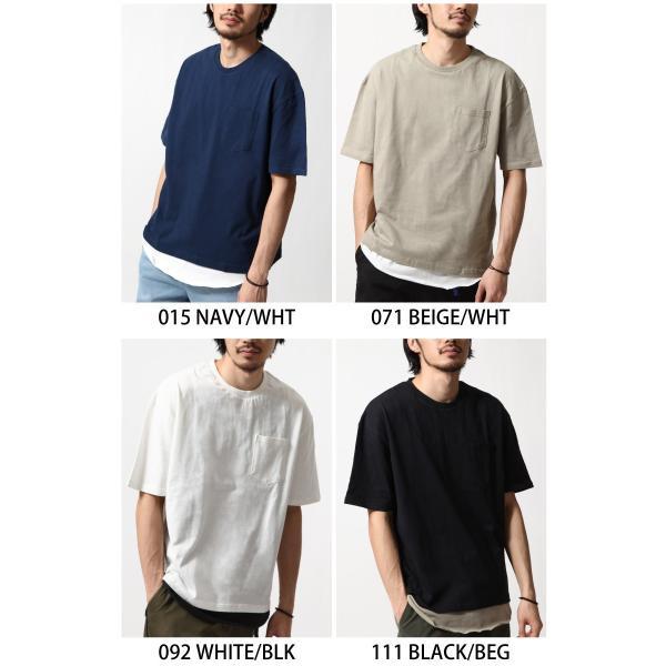 アンサンブル メンズ Tシャツ カットソー タンクトップ ロングタンクトップ レイヤード 無地 ファッション ポイント消化 (19002-11nz)|zip|02