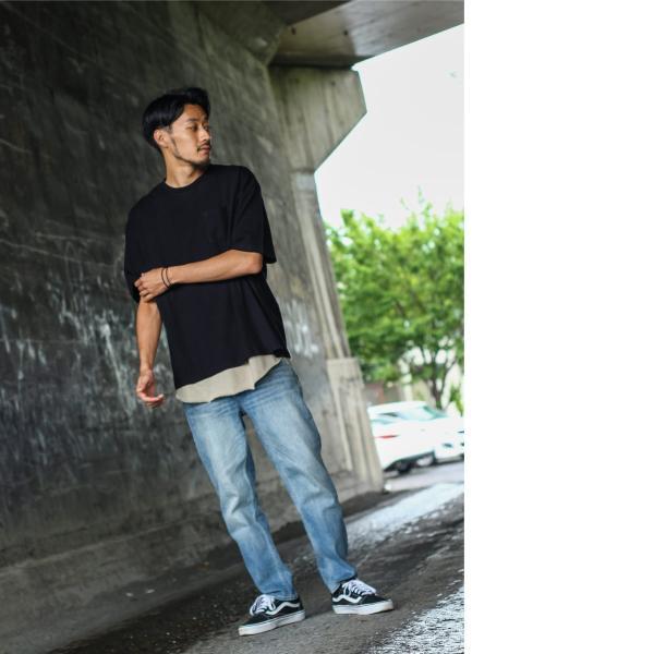 アンサンブル メンズ Tシャツ カットソー タンクトップ ロングタンクトップ レイヤード 無地 ファッション ポイント消化 (19002-11nz)|zip|11