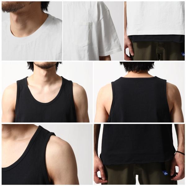 アンサンブル メンズ Tシャツ カットソー タンクトップ ロングタンクトップ レイヤード 無地 ファッション ポイント消化 (19002-11nz)|zip|03