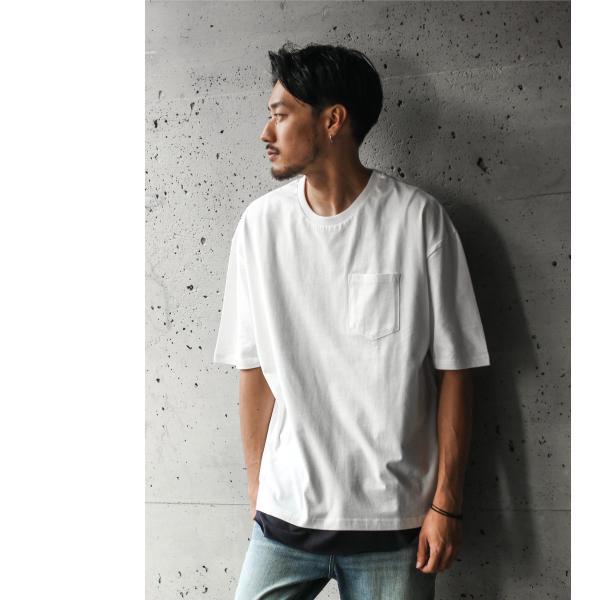 アンサンブル メンズ Tシャツ カットソー タンクトップ ロングタンクトップ レイヤード 無地 ファッション ポイント消化 (19002-11nz)|zip|08