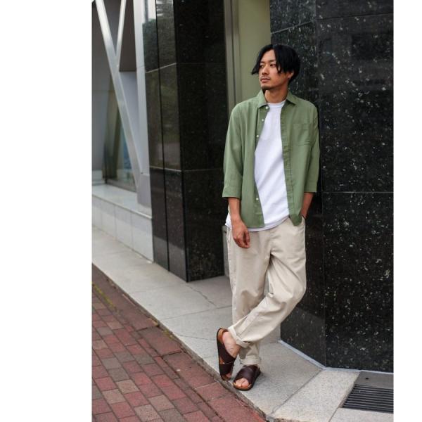 シャツ メンズ カジュアルシャツ リネンシャツ 麻 半袖シャツ 七分袖シャツ 白シャツ 綿麻 清涼 クール ファッション ポイント消化 (19006-12yz)|zip|11