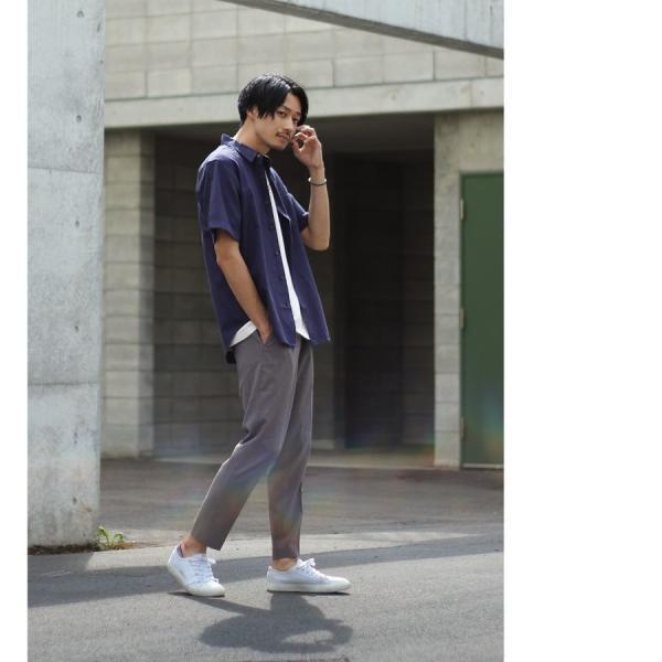シャツ メンズ カジュアルシャツ リネンシャツ 麻 半袖シャツ 七分袖シャツ 白シャツ 綿麻 清涼 クール ファッション ポイント消化 (19006-12yz)|zip|15