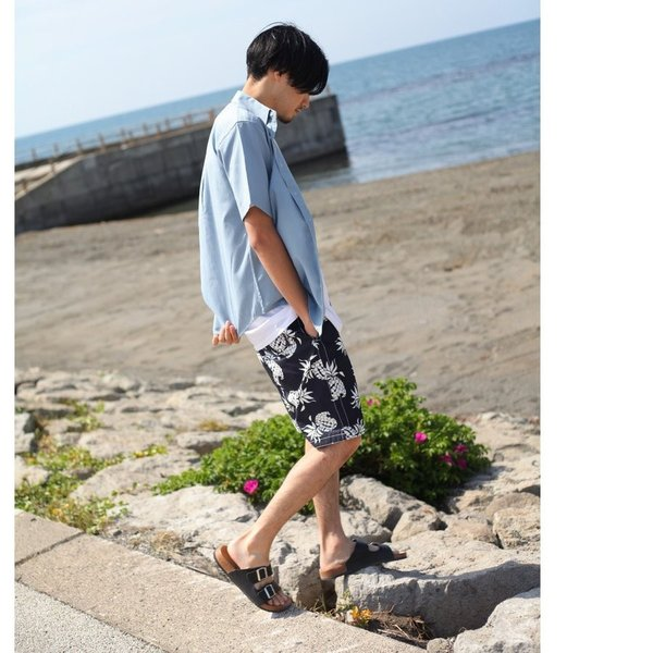 シャツ メンズ カジュアルシャツ リネンシャツ 麻 半袖シャツ 七分袖シャツ 白シャツ 綿麻 清涼 クール ファッション ポイント消化 (19006-12yz)|zip|17