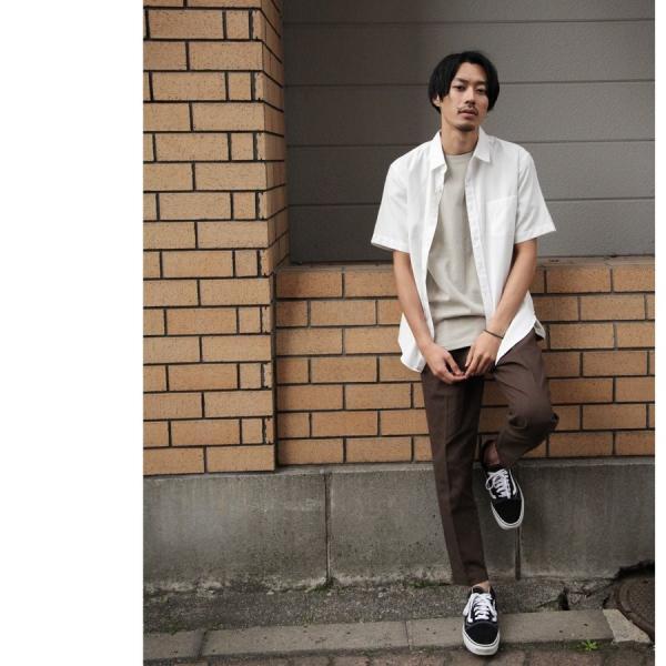 シャツ メンズ カジュアルシャツ リネンシャツ 麻 半袖シャツ 七分袖シャツ 白シャツ 綿麻 清涼 クール ファッション ポイント消化 (19006-12yz)|zip|18