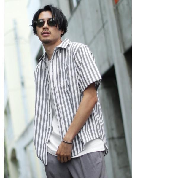 シャツ メンズ カジュアルシャツ リネンシャツ 麻 半袖シャツ 七分袖シャツ 白シャツ 綿麻 清涼 クール ファッション ポイント消化 (19006-12yz)|zip|19