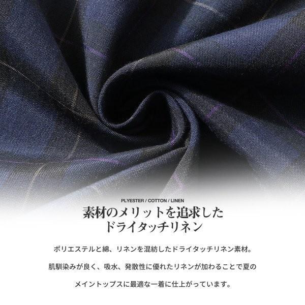 シャツ メンズ カジュアルシャツ リネンシャツ 麻 半袖シャツ 七分袖シャツ 白シャツ 綿麻 清涼 クール ファッション ポイント消化 (19006-12yz)|zip|10