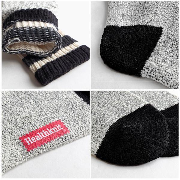 ソックス メンズ ニットソックス 3P セット レギュラーソックス 靴下 くつした ヘルスニット Health Knit ファッション 送料無料 (191-3-15)|zip|02