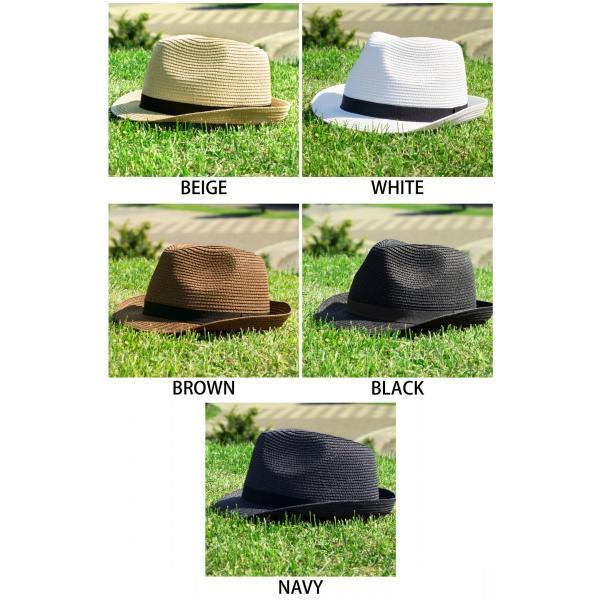 ハット メンズ ストローハット 帽子 折りたたみ可 中折れ帽 無地 家庭洗濯可 ファッション ポイント消化 (191129)|zip|02