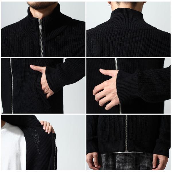 ニットジャケット メンズ ドライバーズニット カーディガン アゼ編み あぜ編み ニットアウター ジャケット ジップアップ リブ編み ファッション (196122)|zip|04