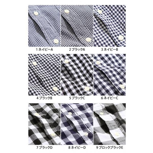 # 長袖 チェックシャツ メンズ シャツ ギンガムチェック ボタンダウン シャツ 総柄 日本製 カジュアルシャツ クール シャツ 春 送料無料 (20-305)|zip|02