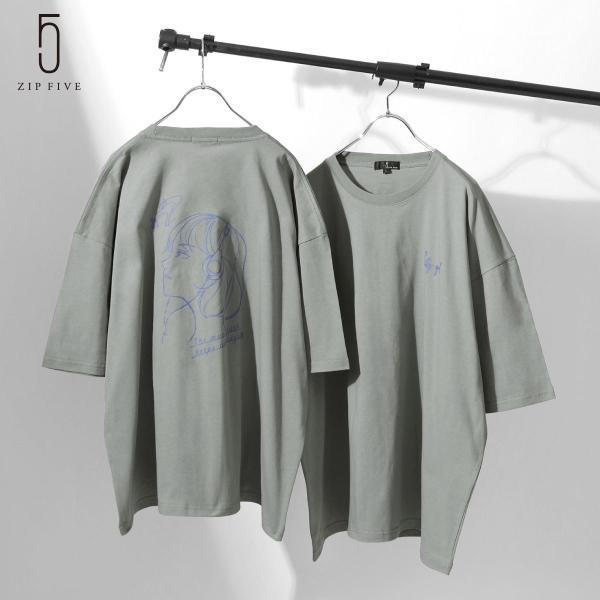 Tシャツメンズカットソー半袖半袖Tシャツアソートイラストプリントビッグシルエットオーバーサイズファッション(21001-11yz