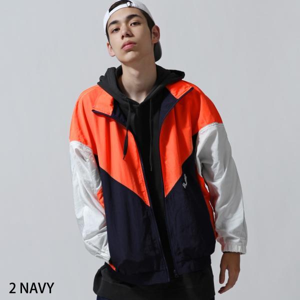 ジャケット メンズ ブルゾン ジャンパー ジャンバー 切替 スポーティ 無地 ロゴ ファッション (470206) zip 02