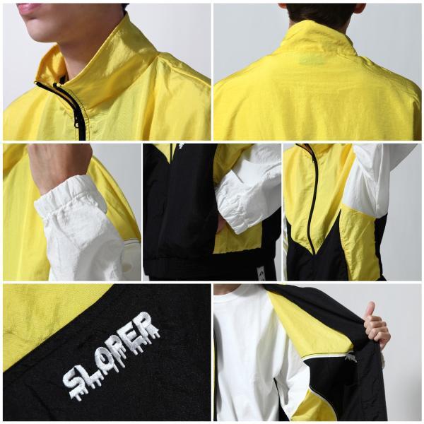ジャケット メンズ ブルゾン ジャンパー ジャンバー 切替 スポーティ 無地 ロゴ ファッション (470206) zip 03