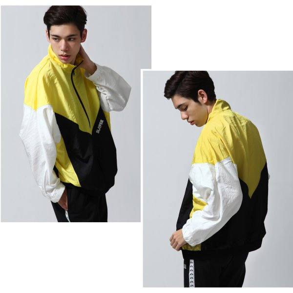 ジャケット メンズ ブルゾン ジャンパー ジャンバー 切替 スポーティ 無地 ロゴ ファッション (470206) zip 06