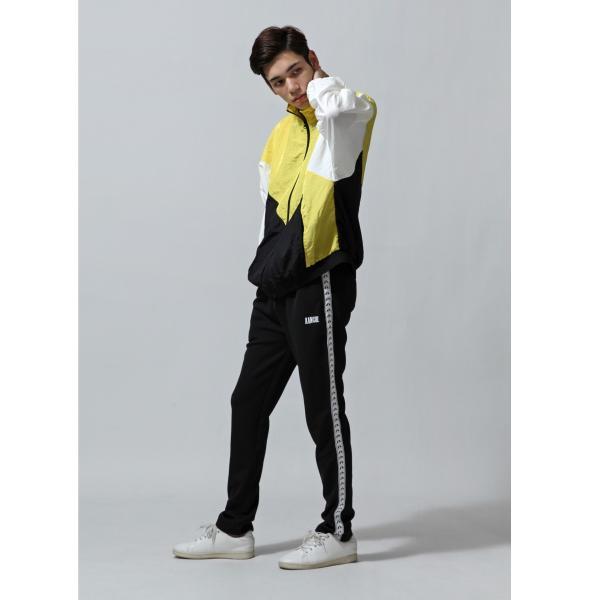 ジャケット メンズ ブルゾン ジャンパー ジャンバー 切替 スポーティ 無地 ロゴ ファッション (470206) zip 07