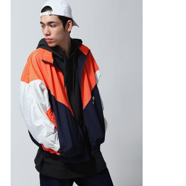 ジャケット メンズ ブルゾン ジャンパー ジャンバー 切替 スポーティ 無地 ロゴ ファッション (470206) zip 08