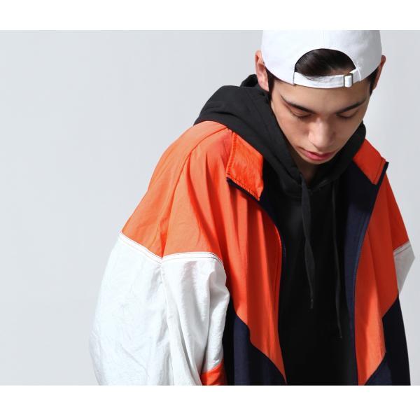 ジャケット メンズ ブルゾン ジャンパー ジャンバー 切替 スポーティ 無地 ロゴ ファッション (470206) zip 09