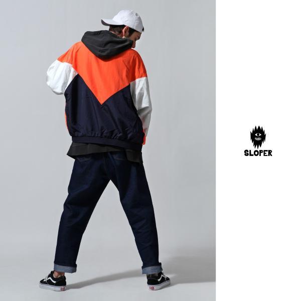 ジャケット メンズ ブルゾン ジャンパー ジャンバー 切替 スポーティ 無地 ロゴ ファッション (470206) zip 10
