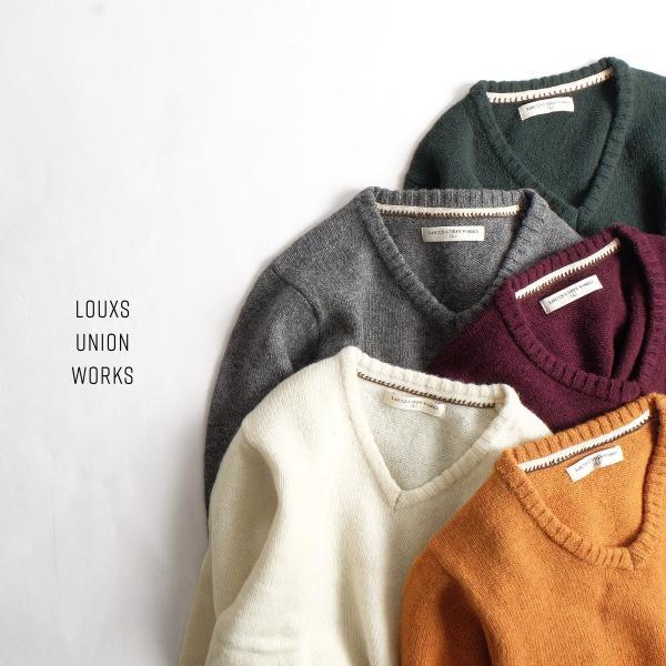 Vネックニット メンズ セーター ニット Vネック 長袖 ウール ニュージーランドウール  ファッション (56631-303-21) zip 11