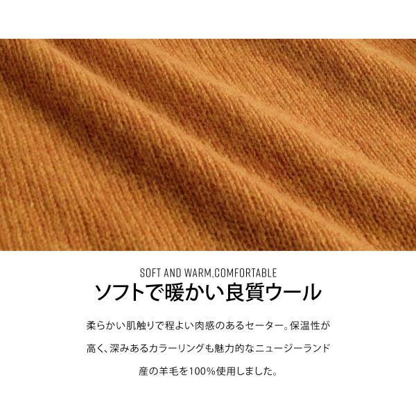 Vネックニット メンズ セーター ニット Vネック 長袖 ウール ニュージーランドウール  ファッション (56631-303-21) zip 05