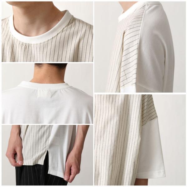 Tシャツ メンズ Tee カットソー 半袖 ティーシャツ ビッグシルエット オーバーサイズ オーガニックコットン ファッション ポイント消化 (661913br)|zip|03