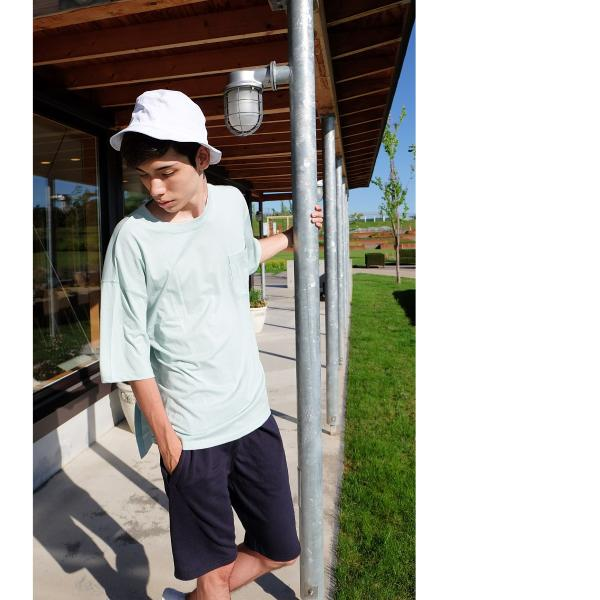 Tシャツ メンズ カットソー 半袖 クルーネック ビッグシルエット 無地 速乾 機能性 ファッション ポイント消化 (661922br)|zip|11