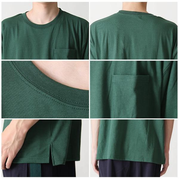 Tシャツ メンズ カットソー 半袖 クルーネック ビッグシルエット 無地 速乾 機能性 ファッション ポイント消化 (661922br)|zip|04