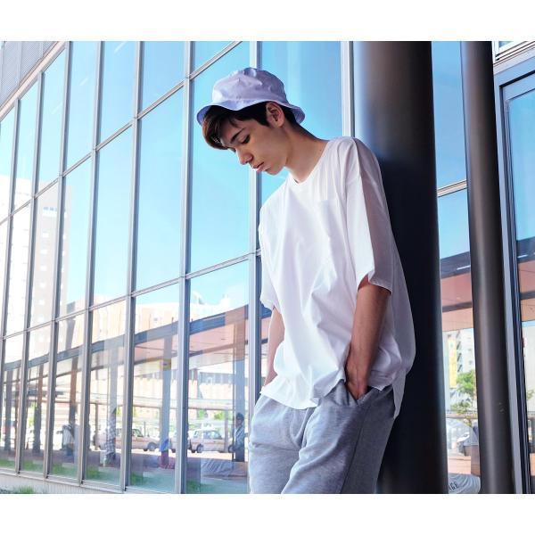Tシャツ メンズ カットソー 半袖 クルーネック ビッグシルエット 無地 速乾 機能性 ファッション ポイント消化 (661922br)|zip|08