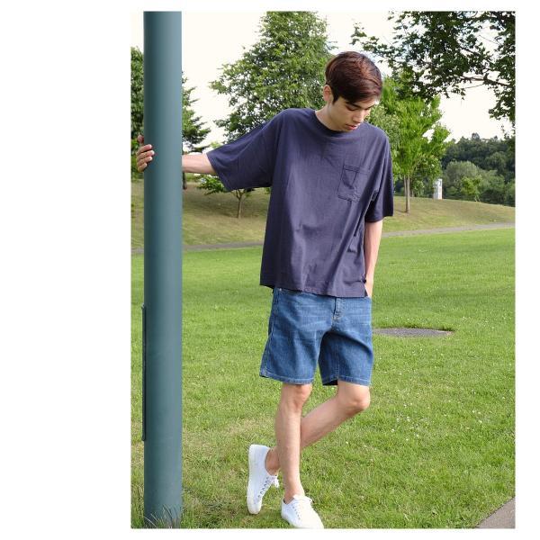 Tシャツ メンズ カットソー 半袖 クルーネック ビッグシルエット 無地 速乾 機能性 ファッション ポイント消化 (661922br)|zip|09