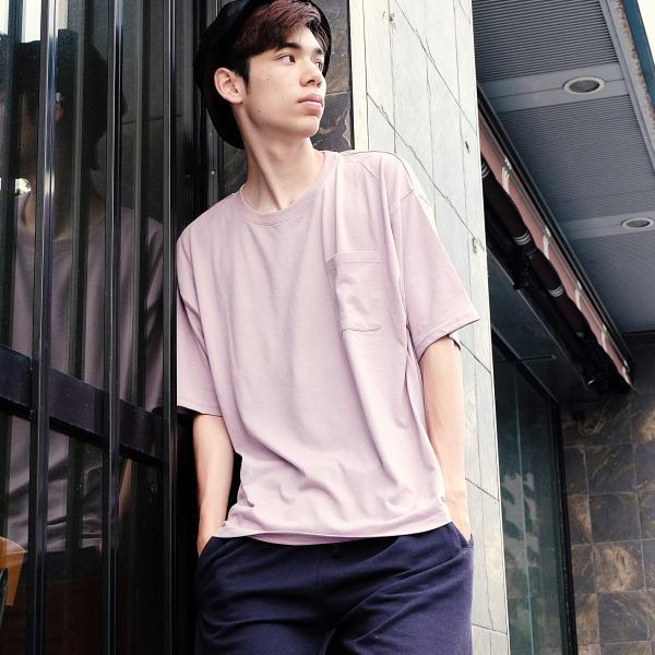 Tシャツ メンズ カットソー 半袖 クルーネック ビッグシルエット 無地 速乾 機能性 ファッション ポイント消化 (661922br)|zip|10