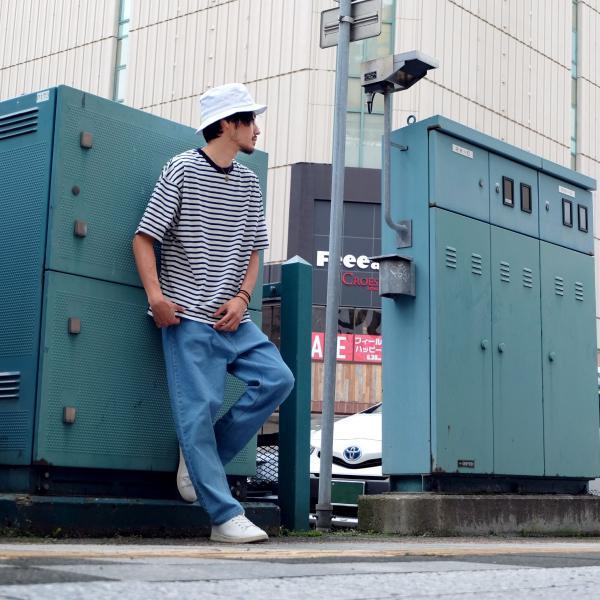 Tシャツ メンズ カットソー 半袖 クルーネック ボーダー ビッグシルエット ドロップショルダー 大きめ ファッション (661955)|zip|11