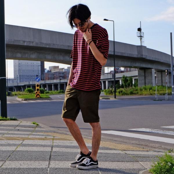 Tシャツ メンズ カットソー 半袖 クルーネック ボーダー ビッグシルエット ドロップショルダー 大きめ ファッション (661955)|zip|15